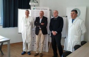 Da sinistra: Leonardo Sarotre, Daniele Brunati, Marco Onofri e Giuseppe Lembo