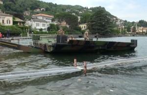 Militari in azione per l'esercitazione Loch Ness