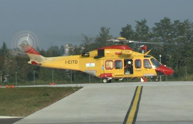 Elicottero Niguarda : Claino con osteno scontro tra moto tre feriti due gravi
