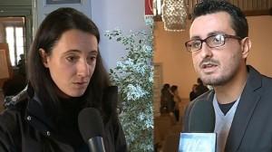 A sinistra Daniela Gerosa (assessore alla Mobilità di Como), a destra Stefano Vicari (rappresentante commercianti via Milano alta)