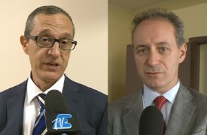 A sinistra Mario Lucini, a destra Stefano Bruni