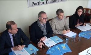 Da sinistra a destra: Luca Gaffuri, Angelo Orsenigo, Mauro Guerra e Chiara Braga