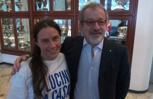 Alessandra Locatelli con Roberto Maroni
