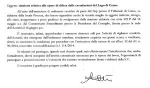 La lettera firmata da Raffaele Cantone