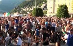 E' il 90esimo: Pellé insacca il 2-0, piazza Cavour esplode in un boato di gioia