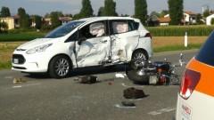 Scontro auto moto a Lomazzo: muore motociclista