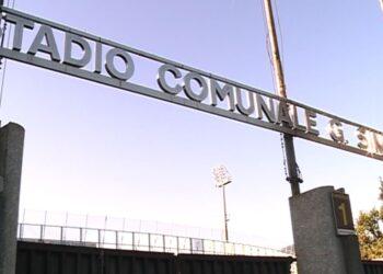 L'ingresso dello stadio Sinigaglia di Como