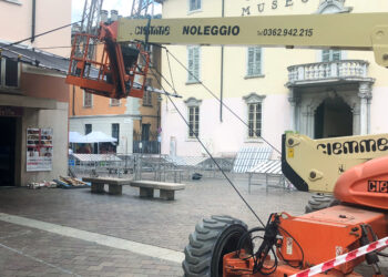 Riprese Netflix Piazza Medaglie d'Oro - Allestimento