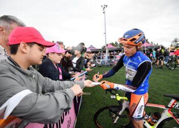 Giro d'Italia 2016. ANSA/ALESSANDRO DI MEO partenza CUNEGO Damiano (ITA) NIPPO - VINI FANTINI (ITA)