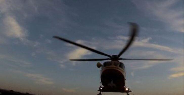 un elicottero del 118 in volo