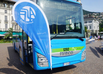 Un autobus Asf parcheggiato