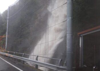 Cascata di Colonno ingrossata dalle piogge