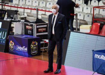 Cesare Pancotto durante la partita del Campionato Legabasket Serie A 2020/21 fra Openjobmetis Varese e Acqua S.Bernardo Cant.Basket - Enerxenia Arena 11/10/2020 - Walter Gorini/PallCantu © All Rights Reserved