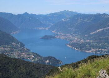 lago di Como dall'alto