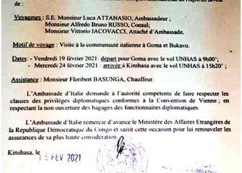 Kinshasa: 'Ma poi ci disse a voce che non sarebbe più andato'