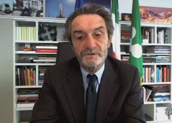 Il governatore della Lombardia Attilio Fontana