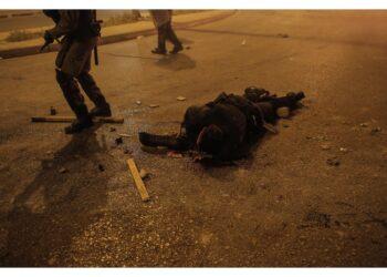 Durante gli scontri di ieri a Nea Smyrni