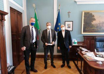 Il presidente di Confesercenti Como, Claudio Casartelli, e il direttore, Angelo Basilico, sono stati ricevuti dal Prefetto di Como, Andrea Polichetti