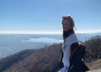 Filippa Lagerback sul monte Crocetta sopra a Cittiglio