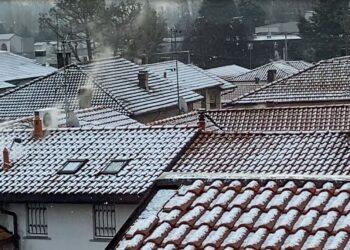 Nevicata nel Comasco