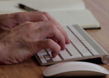 Smartworking, una persona che scrive al pc
