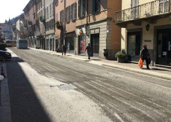 cantiere via Milano, Como