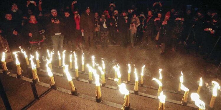 A Pripjat veglia in memoria delle vittime