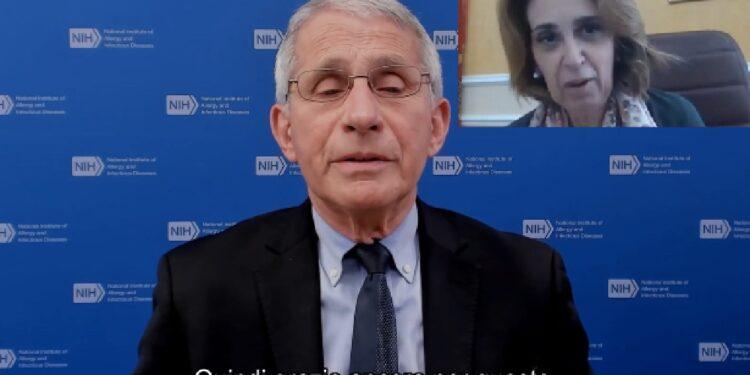 """Immunologo in video""""sono profondamente commosso nell'accettarle"""""""