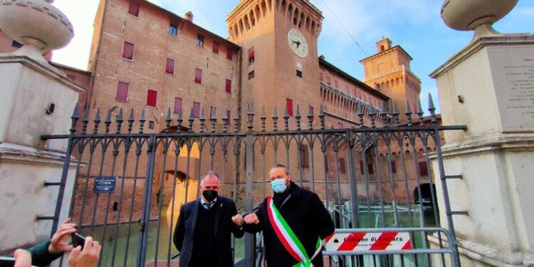 Il ministro a Ferrara incontra il sindaco Alan Fabbri
