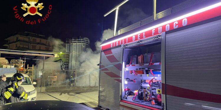 L'incendio a Cantù