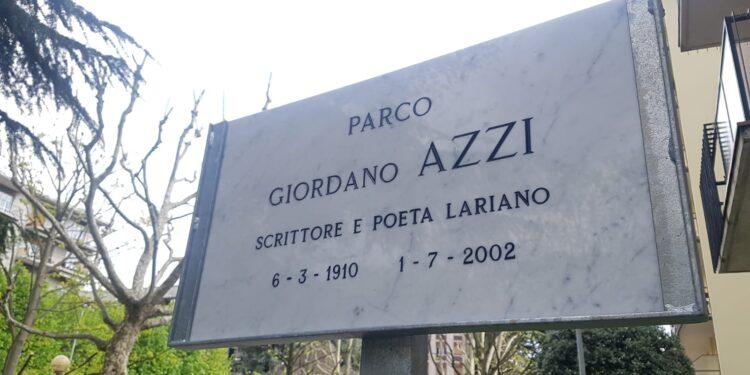 Targa in nome di Giordano Azzi