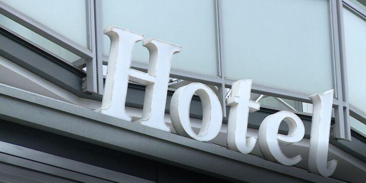 Insegna di un hotel
