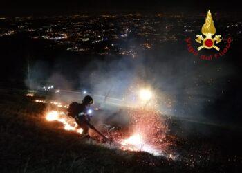 L'intervento dei vigili del fuoco a Cornizzolo