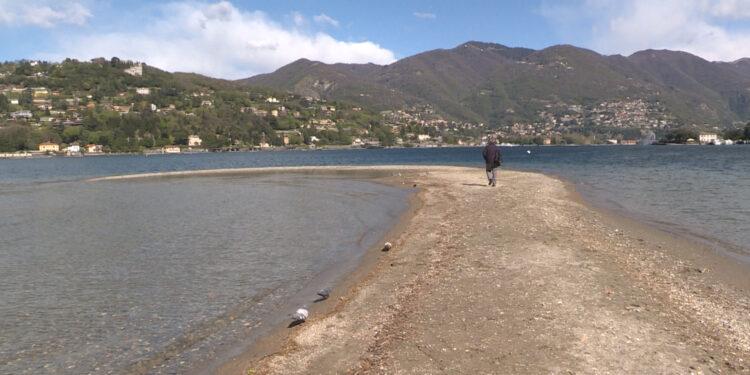 Il livello basso del Lago di Como