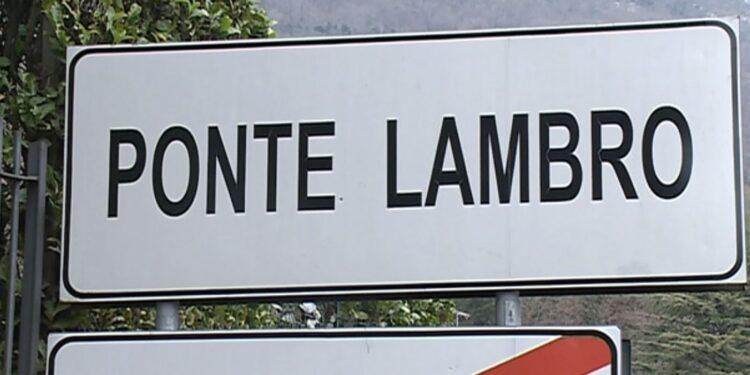 Cartello di Ponte Lambro