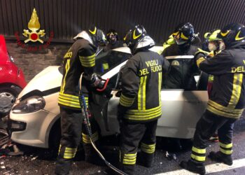 incidente in galleria a Cernobbio