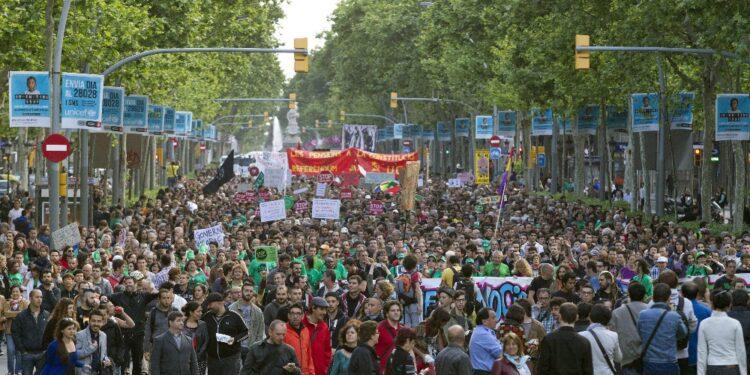La prima manifestazione anti casta fu il 15 maggio 2011