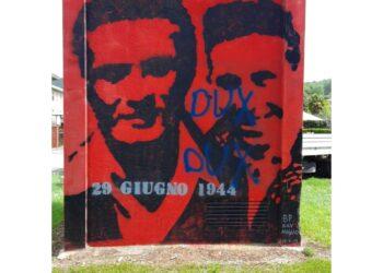 Sono comparse su murale che ricorda gesto del 1944