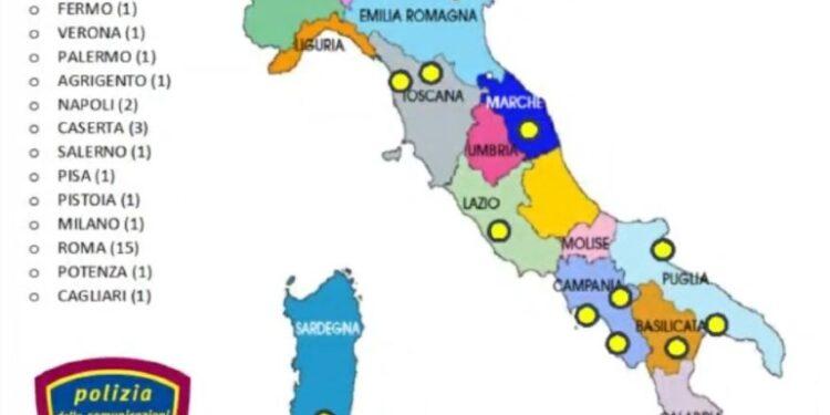 Operazione della polizia postale su inchiesta Procura di Catania