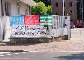 sciopero al comando provinciale di Como dei vigili del fuoco