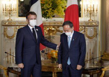Presidente francese in visita in occasione delle Olimpiadi