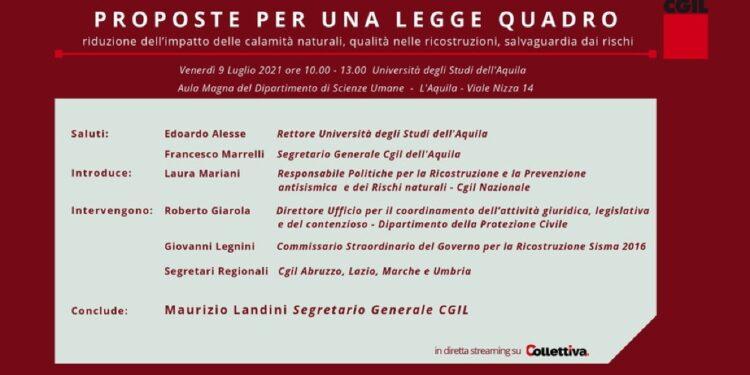 Segretario Cgil all'Aquila