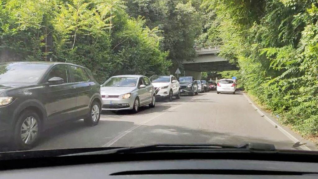 traffico via per san fermo