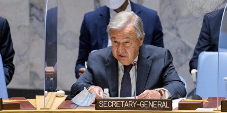 Il segretario generale dell'Onu: solidali con popolo che soffre