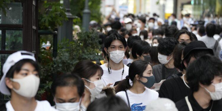 Sotto restrizioni 80% del Giappone