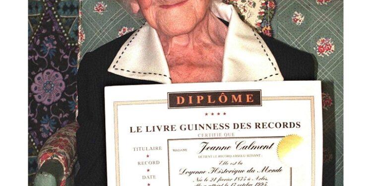 Primato è attualmente della francese Jeanne Calment