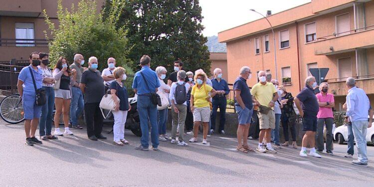 il gruppo di manifestanti a Sagnino