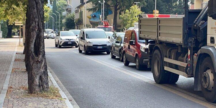 incidente como viale rossello traffico