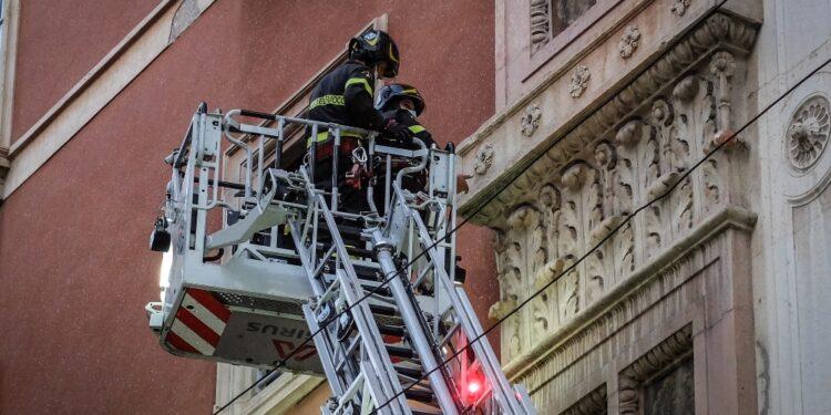 Intervento urgente dei Vigili del fuoco