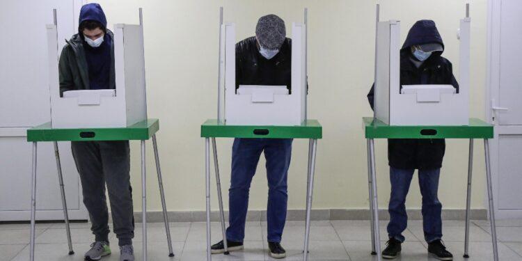Conferenza stampa degli osservatori elettorali a Tiblisi